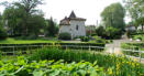 Church and gardens Barbotand Les Thermes